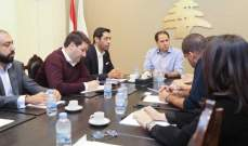 سامي الجميل التقى وفداً من  ائتلاف ادارة النفايات في لبنان