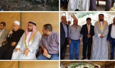 عشائر العرب في عاليه استقبل المهنئين بمناسبة عيد الفطر