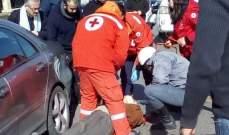 النشرة: جريح نتيجة حادث صدم امام مسجد الحاج بهاء الدين الحريري في صيدا