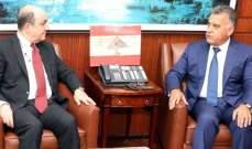 اللواء ابراهيم بحث مع سفير تركيا الجديد بلبنان الأوضاع العامة وسبل التعاون بين الجانبين