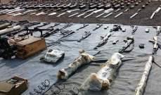 القوات السورية عثرت على أسلحة وأجهزة اتصال بث فضائي أميركية في ريف دمشق