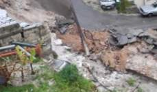 فتح طريق فرعية بعد انهيار حائط دعم في حارة صيدا