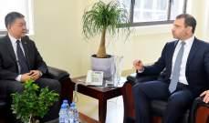 أفيوني: مهتمون بتشجيع القطاع الخاص الصيني على الاستثمار في لبنان