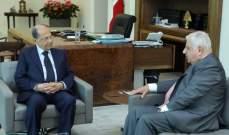 قليموس التقى الرئيس عون: بضرورة قيام الحريري بمبادرات للاستعجال في تأليف الحكومة