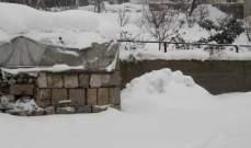 النشرة: سماكة الثلوج في قاع الريم بلغت مترا ويُعمل على فتح الطرقات
