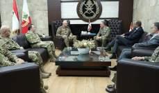 قائد الجيش عرض مع قائد اليونيفيل للأوضاع على الحدود الجنوبية