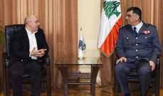اللواء عثمان بحث مع آلان عون الأوضاع العامة في البلاد