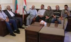سعد التقى وفداً من نقابة صيادي الأسماك في صيدا
