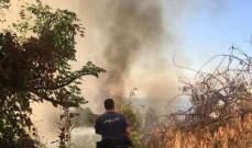 اخماد حريق في منزل في البابلية