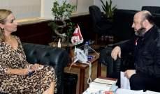 الرياشي عرض مع سفيرة سويسرا للأوضاع العامة