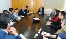 فنيانوس بحث مع وفد صيني في تطوير قطاع النقل وتفعيله