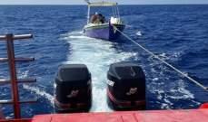 الدفاع المدني: سحب زورق لصيد الأسماك إلى ميناء البترون بعد تعطل محركه