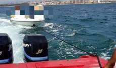 الدفاع المدني: سحب زورق سياحي إلى ميناء صور بعد عطل طرأ على محركه