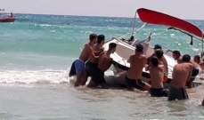 الدفاع المدني:سحب زورق سياحي على متنه عائلة مؤلفة من 5 أشخاص إلى ميناء صور