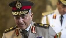 وزير الدفاع المصري: جيشنا يملك أحدث الأسلحة البحرية والبرية والجوية