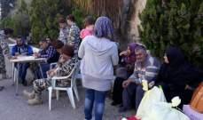 النشرة:32 نازحا يتجمعون بمركز كامل جابر بالنبطية استعدادا للعودة لسوريا