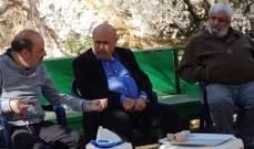الصراف بحث مع حسين في التعويض للعكاريين عن أضرار العاصفة