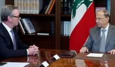 رئيس الجمهورية بحث مع وزير دفاع أستراليا بالعلاقات الثنائية والتقى مخزومي وعون