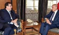 بري عرض والسفير الفرنسي قوانين سيدر وروما-2 وإستقبل السفير الكويتي