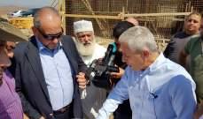 اللبكي تفقد معمل فرز النفايات والمطمر الصحي قيد الانشاء في قرية سرار