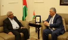 السفير الفلسطيني في لبنان يلتقي اسامة سعد وسفيرة النروج