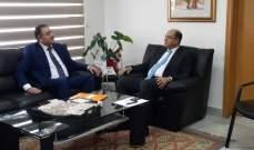 اللقيس بحث مع سفير لبنان بالجزائر العلاقات الزراعية والتجارية بين البلدين