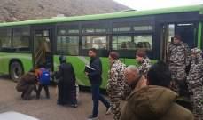 النشرة: وصول الحافلة السورية التي ستقل حوالي 20 نازحا سوريا في شبعا إلى البيادر