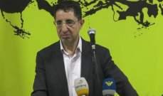 الحج حسن: تيار المستقبل وحلفاؤه مسؤولون عن عدم معالجة موضوع النزوح السوري