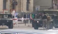 النشرة:تبادل إطلاق نار بين الجيش وأحد المطلوبين قرب مكتب كبارة في التل