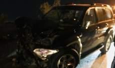 اصابة عائلة من 6 أفراد في حادث سير على أوتوستراد الزهراني