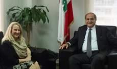 الخطيب أطلع السفيرة شمعون على التعاون البيئي بين لبنان والاردن