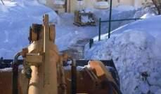 الدفاع المدني: تسهيل حركة المرور على طرقات عيون السيمان/ كفردبيان بسبب الثلوج