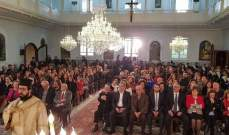 البطريرك العبسي احتفل بعيد القديسة بربارة في كنيسة البربارة في زحلة