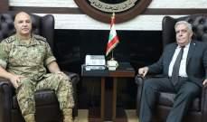 قائد الجيش عرض الأوضاع العامة مع الداوود والتقى القاضي طوني لطوف