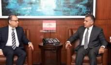 اللواء إبراهيم التقى السفير المصري وعرض معه التطورات الراهنة