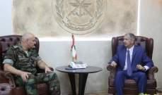 الاشقر زار قائد الجيش: للاسراع في محاكمة الارهابيين وانزال اشد العقوبات
