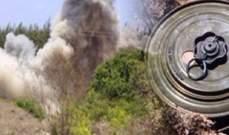 انفجار الغام ارضية في ميس الجبل بسبب حريق