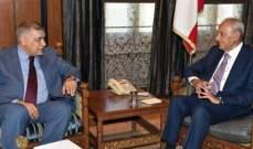 بري التقى سفيري بلجيكا وايطاليا وتسلم دعوة رسمية لزيارة اذربيجان