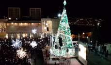 اضاءة شجرة الميلاد في مدينة بيت لحم الفلسطينية
