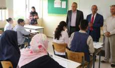 مراد رعى انطلاق الإمتحانات التجريبية المتوسطة في مدارس البقاع