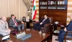 الحريري عرض آخر التطورات مع شورتر وهوث وتويني وصليبا