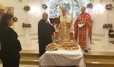 المطران درويش احتفل بعيد القديسة ريتا في قب الياس