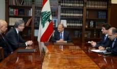 الرئيس عون التقى المدير الإقليمي بالبنك الدولي للشرق الأوسط وشمال إفريقيا