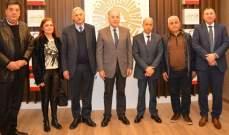 """دبوسي استقبل المدير العام للنقل البري والبحري ووفد من """"الحراك المدني العكاري"""""""