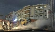 النشرة:فتح الطريق عند مفرق الفوار بعد قطعها احتجاجا على انقطاع الكهرباء