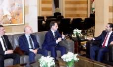 الحريري اطلع من كرينبول على تطورات الوضع المالي للأونروا والتقى الصفدي وبطيش
