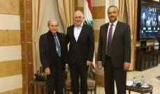 الخليل زار فهمي وعرض معه نلفات لبلدية حاصبيا عالقة في وزارة الداخلية