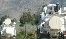 فريق من اليونيفيل والجيش كشف على أمكنة سقوط القنابل الاسرائيلية