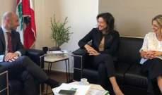 """وزير البيئة التقى رئيسة جمعية """" Green Cedar Lebanon """""""