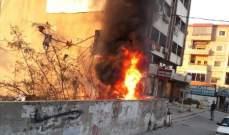 النشرة: إخماد حريق دواليب ونفايات في البورة في شارع الرياض الصلح بصيدا
